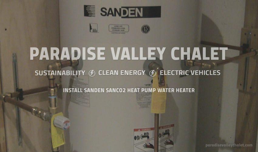 Installation of the Sanden CO2 Heat Pump Water Heater